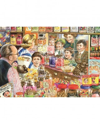 Puzzle Jumbo - Jim Mitchell: The Little Sweet Shop, 1.000 piese (11079)