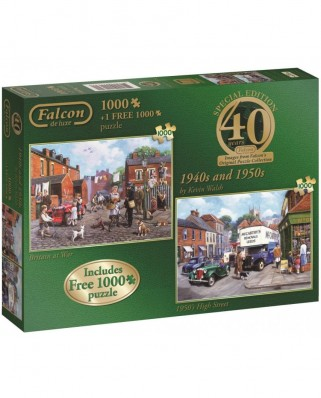 Puzzle Jumbo - Kevin Walsh: 1940s and 1950s, 2x1.000 piese (11132)