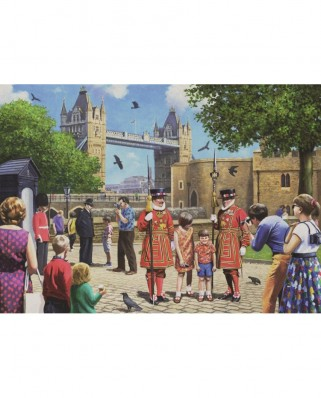 Puzzle Jumbo - Kevin Walsh: Beefeaters at the Tower, 1.000 piese (11177)