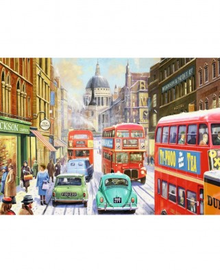 Puzzle Jumbo - Kevin Walsh: Snow in London City, 1.000 piese (11192)