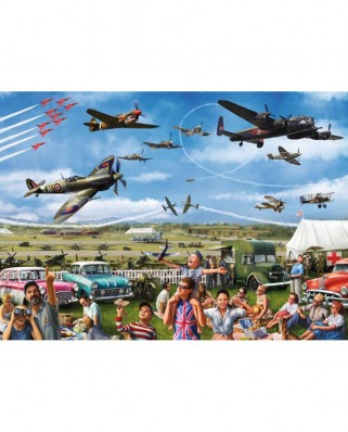 Puzzle Jumbo - Marcello Corti : Family Airshow, 1.000 piese (11195)