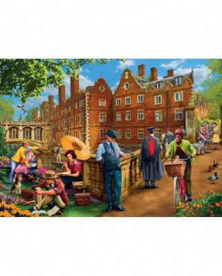 Puzzle Jumbo - Mat Edwards : An Afternoon in Cambridge, 1.000 piese (11129)