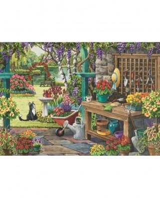 Puzzle Jumbo - Nancy Wernersbach : Garden in Bloom, 200 piese XXL (11139)