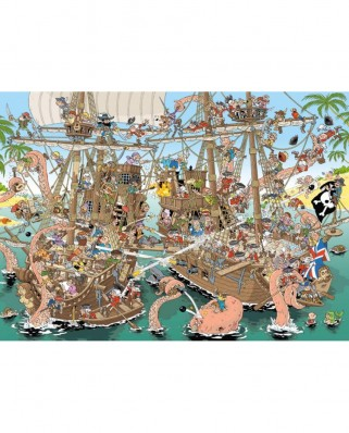 Puzzle Jumbo - Pieces of History - The Pirates, 1.000 piese (19204)