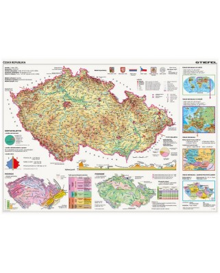 Puzzle Dino - Map of the Czech Republic, 2.000 piese (63001)