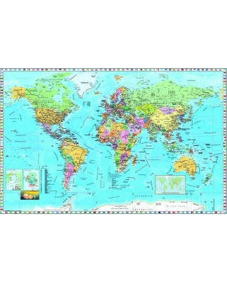 Puzzle Dino - Map of the World, 1.000 piese (62953)