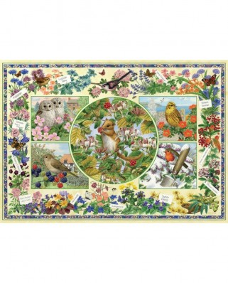 Puzzle Jumbo - Sarah Adams : The Country Garden, 1.000 piese (11131)