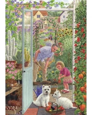 Puzzle Jumbo - Sarah Adams : Through the Greenhouse Door, 500 piese (11115)