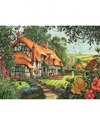 Puzzle Jumbo - Steve Crisp: Thatcher's Cottage, 1500 piese (11113)