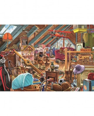 Puzzle Jumbo - Steve Crisp: Toys in the Attic, 1.000 piese (11128)