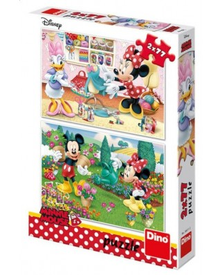 Puzzle Dino - Mickey, 2x77 piese (62901)