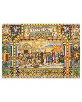 Puzzle Jumbo - Tiles of Barcelona, 3.000 piese (18590)
