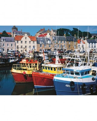 Puzzle Jumbo - Tom Mackie : Fife Harbour, 1.000 piese (11127)