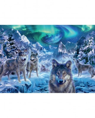 Puzzle Jumbo - Trevor Mitchell: Wolves in Winter, 500 piese (18329)