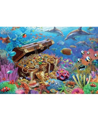 Puzzle Jumbo - Under Water Treasure, 1.000 piese (18342)