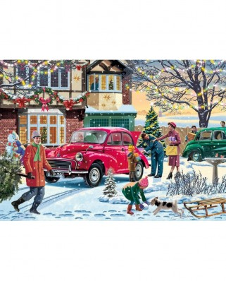 Puzzle Jumbo - Vic McLindon : December Shopping, 500 piese (11184)