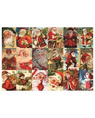 Puzzle Jumbo - Vintage Santa's, 2.000 piese (18589)