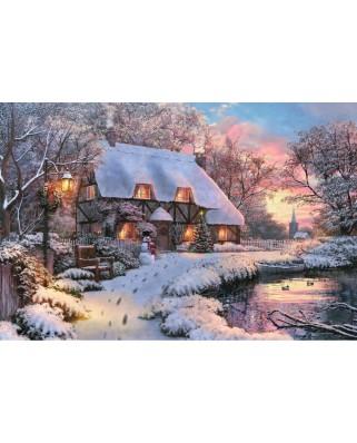 Puzzle Jumbo - Winter Cottage, 1500 piese (18526)