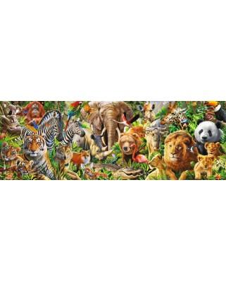 Puzzle panoramic Jumbo - African Wildlife, 1.000 piese (18518)