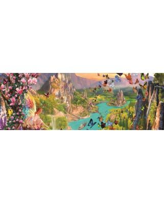Puzzle panoramic Jumbo - Fairy Land, 1.000 piese (18570)