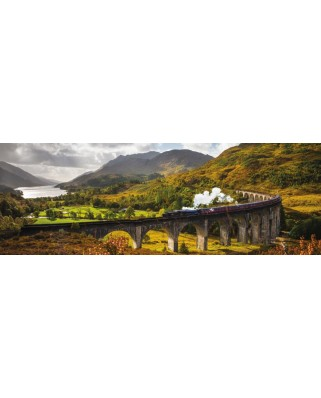 Puzzle panoramic Jumbo - Glennfinnen Railways, Scotland, 1.000 piese (18521)
