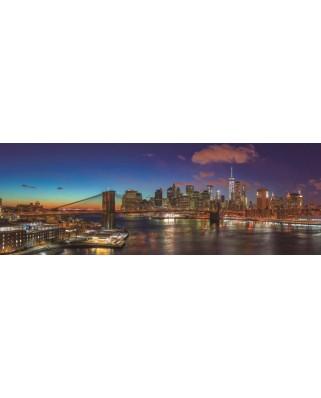 Puzzle panoramic Jumbo - Hudson Bridge New York, 1.000 piese (18569)