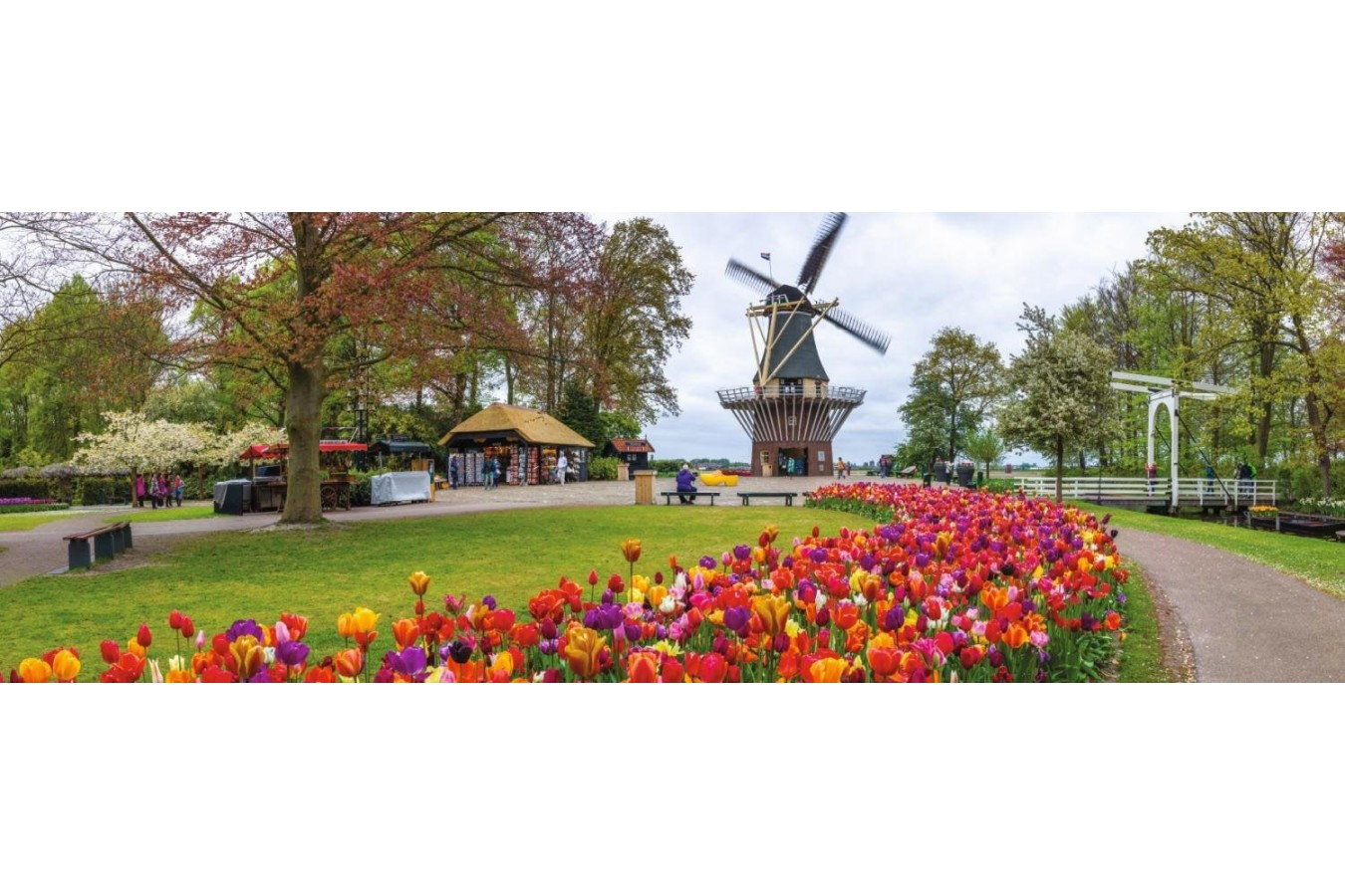 Puzzle panoramic Jumbo - Mill, Holland, 1.000 piese (18517)