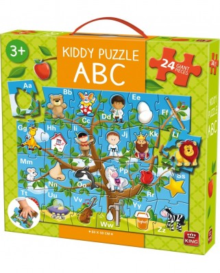 Puzzle de podea King - Kiddy ABC, 24 piese XXL (05441)