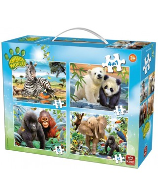 Puzzle King - Animal World, 12/16/20/24 piese (05321)
