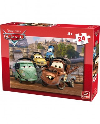 Puzzle King - Cars, 24 piese (king-Puzzle-05245-A)