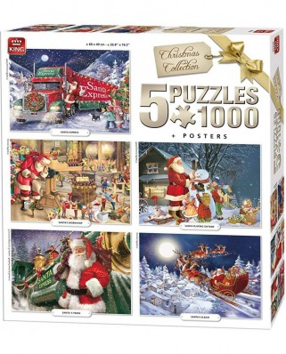 Puzzle King - Christmas, 5x1.000 piese (05219)