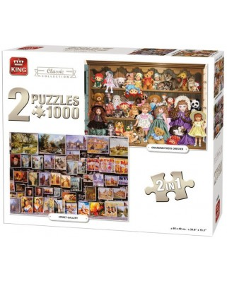 Puzzle King - Classic Collection, 2x1.000 piese (05215)