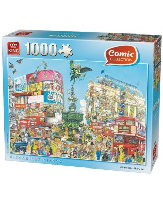 Puzzle King - Comic Collection - Piccadilly Circus, 1.000 piese (05082)