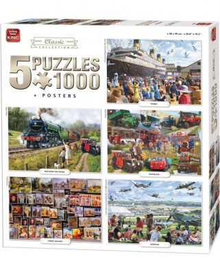Puzzle King - Compendium, Classic Collection, 5x1.000 piese (05210)