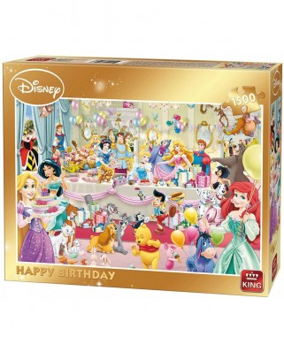 Puzzle King - Disney - Happy Birthday, 1500 piese (85523)