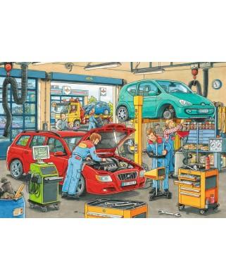Puzzle Ravensburger - Vulcanizare Si Benzinarie, 2x24 piese (08855)
