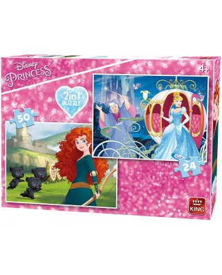 Puzzle King - Disney Princess, 24/50 piese (05416)