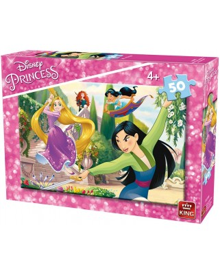 Puzzle King - Disney Princess, 50 piese (king-Puzzle-05318-B)