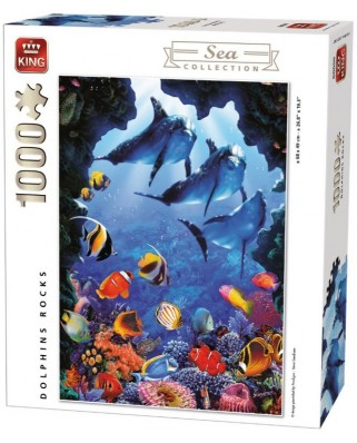 Puzzle King - Dolphins Rocks, 1.000 piese (05667)