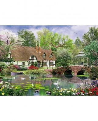 Puzzle King - Dominic Davison: April Cottage, 1.000 piese (05358)