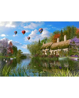 Puzzle King - Dominic Davison: Cottage, 3x1.000 piese (85530)