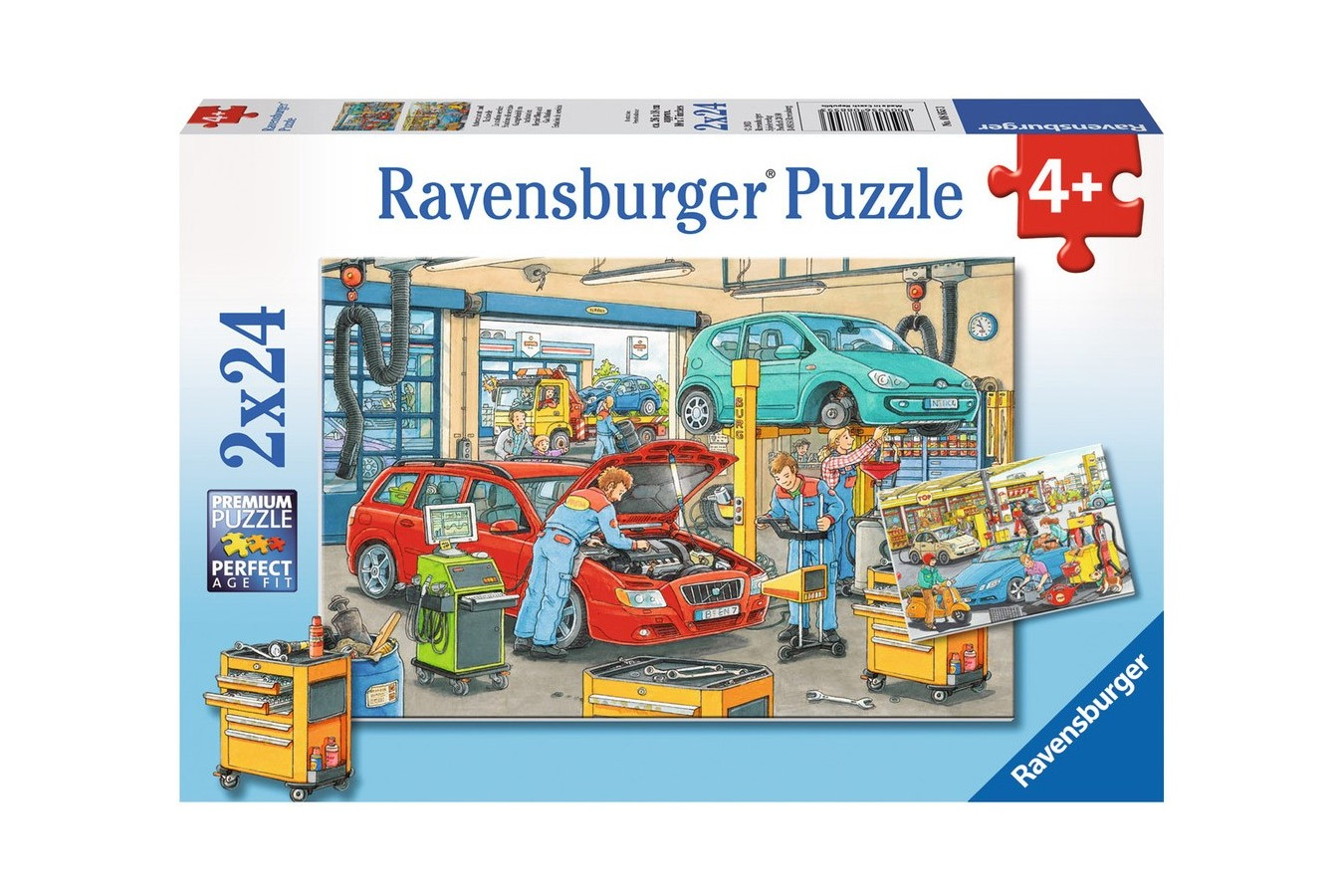 Puzzle Ravensburger - Vulcanizare Si Benzinarie, 2x24 piese (08855)