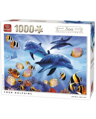 Puzzle King - Four Dolphins, 1.000 piese (05666)