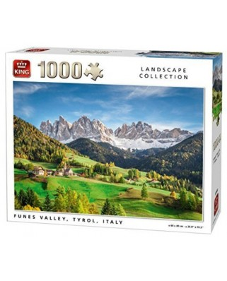 Puzzle King - Funes Valley, Tyrol, Italy, 1.000 piese (05708)