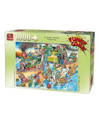 Puzzle King - Funny Comic Collection - Steam Train Pirates, 1.000 piese (05225)