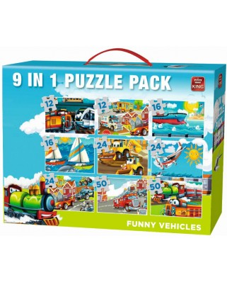 Puzzle King - Funny Vehicles, 12/16/24/50 piese (05520)