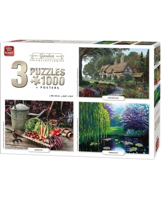 Puzzle King - Garden Collection, 3x1.000 piese (05207)