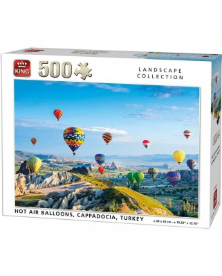 Puzzle King - Hot Air Balloons, 500 piese (05538)