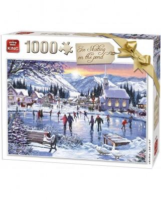 Puzzle King - Ice Skating on the Pond, 1.000 piese (05724)