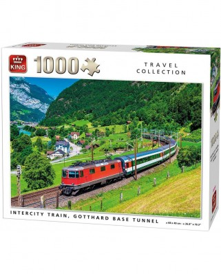 Puzzle King - Intercity Train, 1.000 piese (05716)